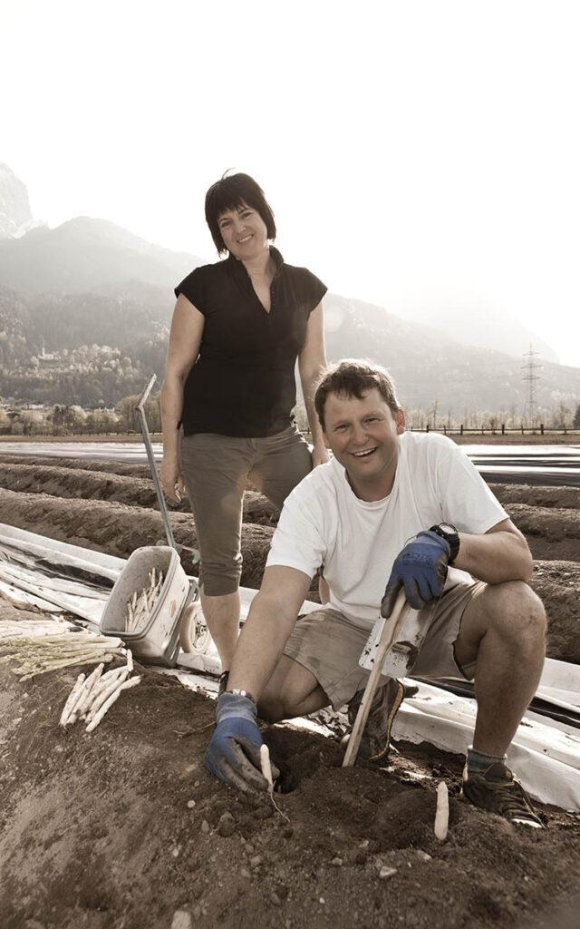 Josef und Elisabeth Kaplenig leben für den Osttiroler Spargel.