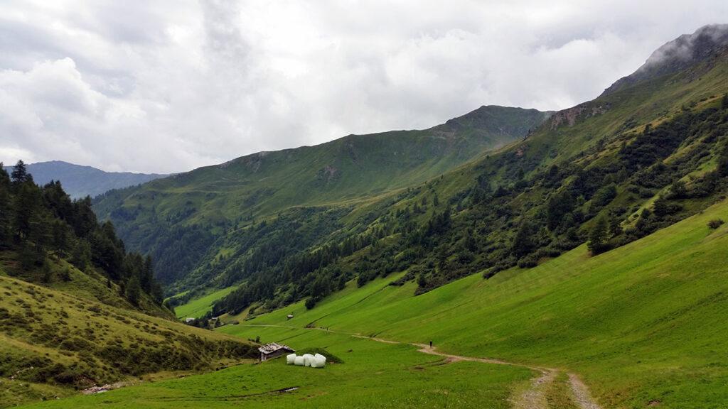 Blick zurück ins Roßbachtal.