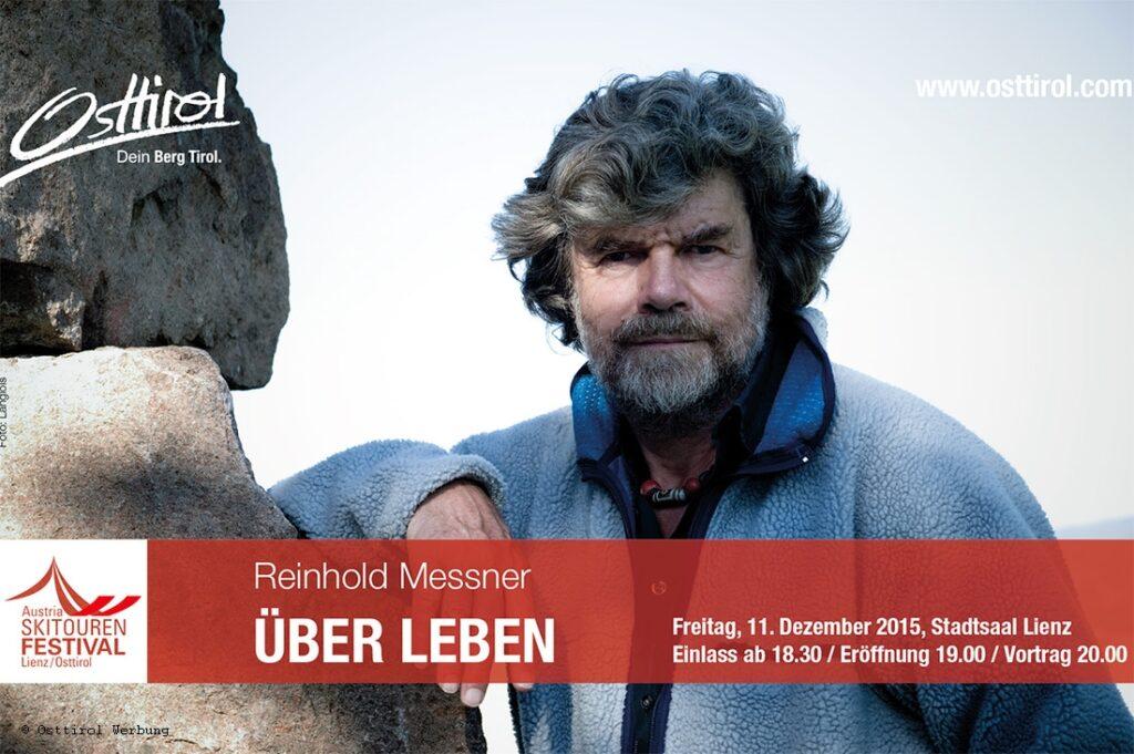 Reinhold Messner kommt zum Skitouren Festival nach Osttirol.
