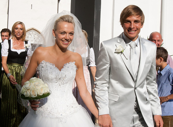 Benjamin Karl und Nina Grissmann bei der Hochzeit 2011. Foto (c) Brunner (dolomitenstadt.at)