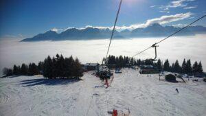 Nebel im Tal... traumhafter Sonnenschein am Berg.