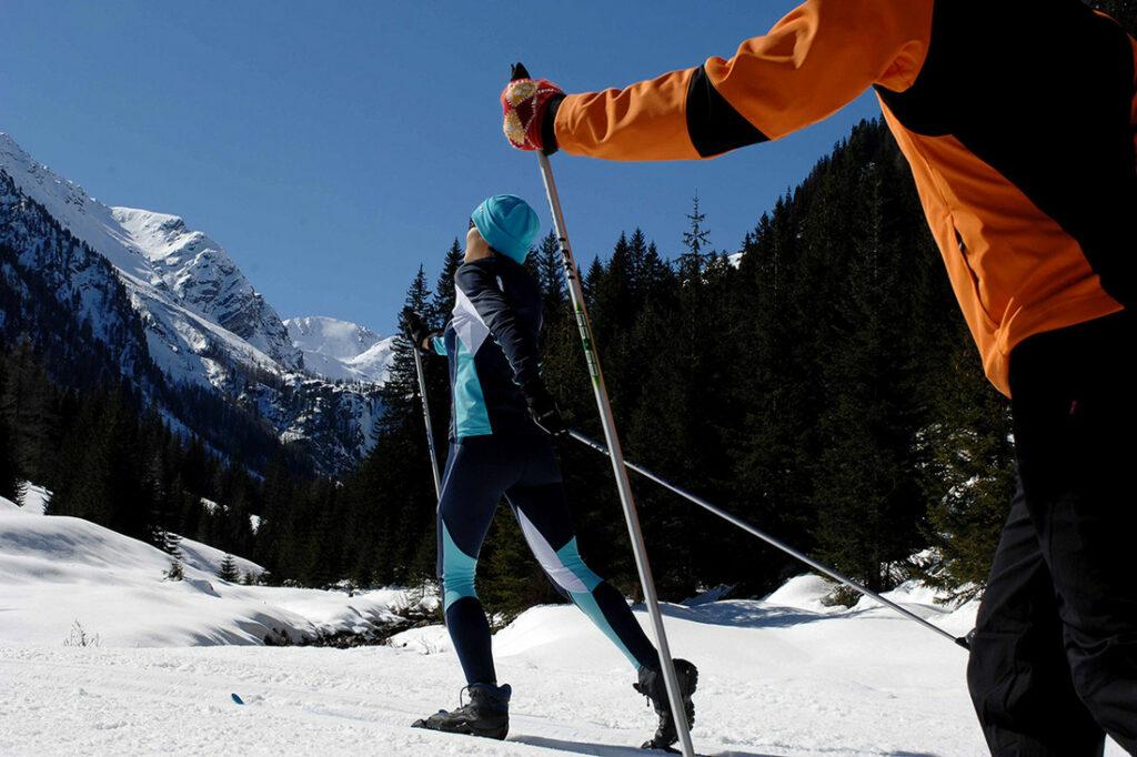 Ein Teil des Sports: Ausdauer beim Langlaufen.