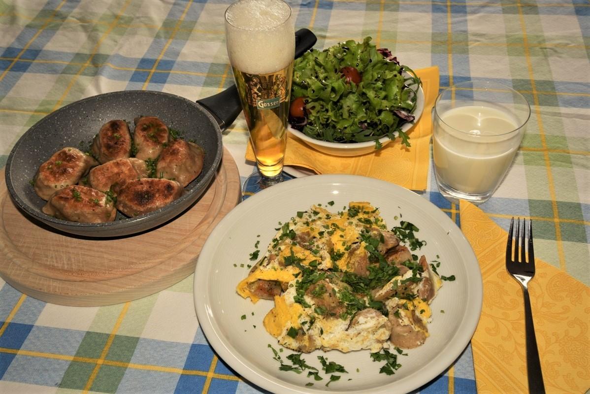 Geröstete Schlipfkrapfen: Mahlzeit