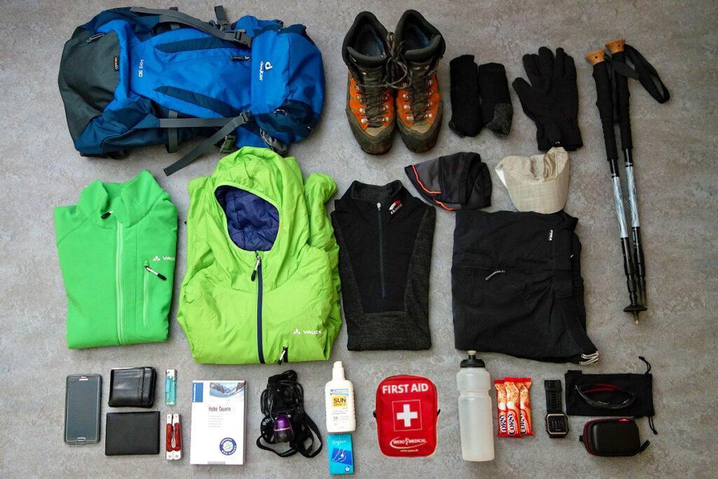 Packliste für eine Wanderung im hochalpinen Gelände