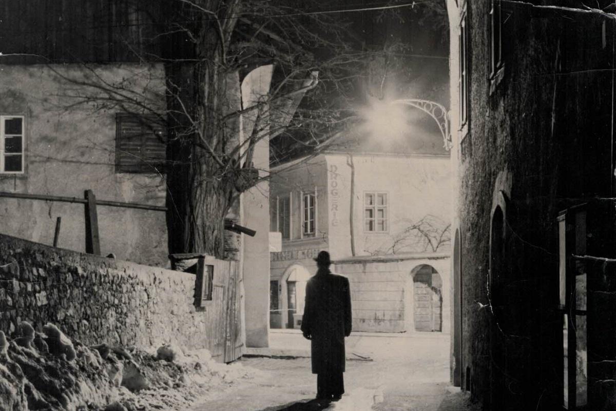 Ein historisches Bild der Kunstschmiede, Messinggasse 6 in Lienz.
