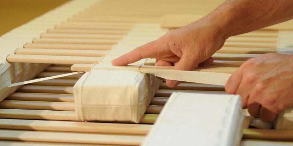 Die Schlafsysteme werden in der Werkstätte in Innervillgraten handgefertigt.
