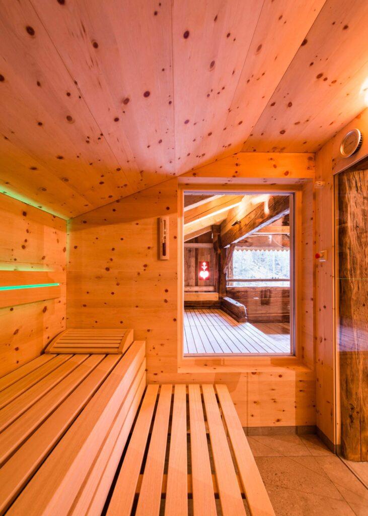 Der Saunabereich im Stadel.