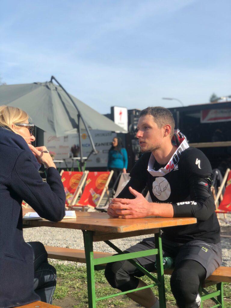 Lukas Pöstlberger von Bora Hansgrohe im Interview in Osttirol.