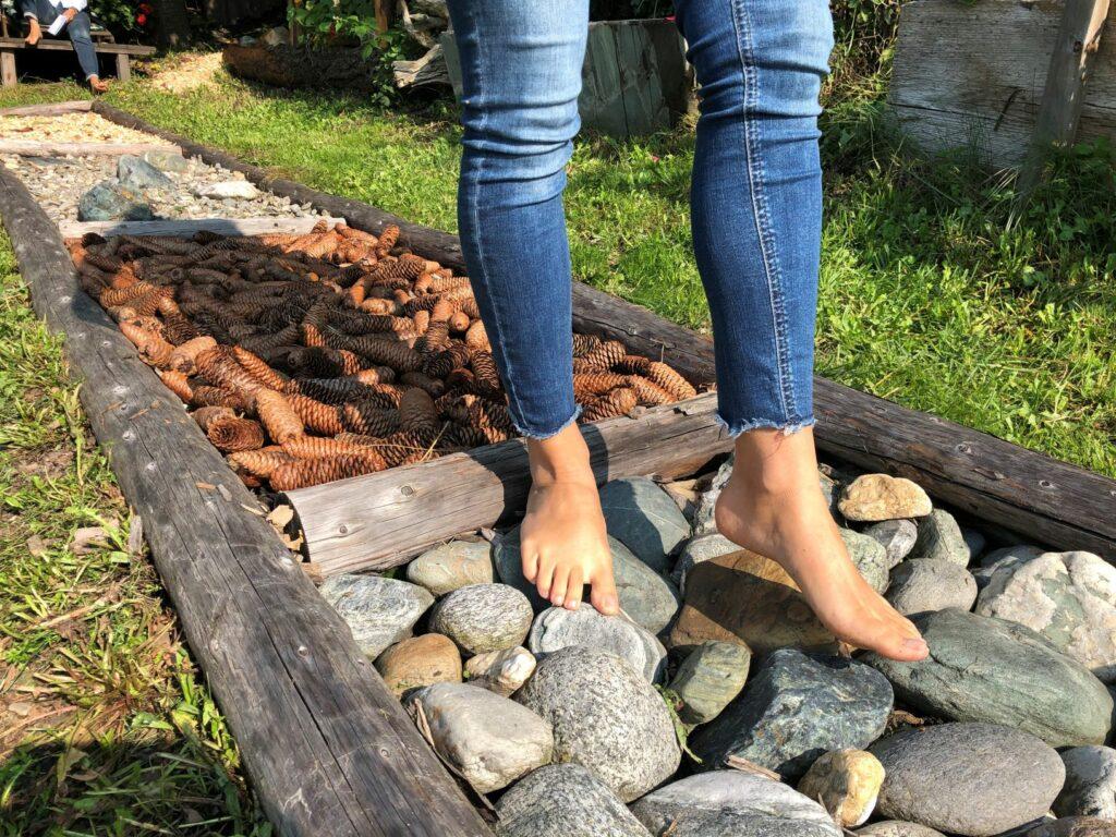 Fußmassagebeet